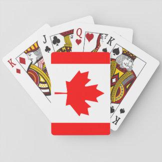 Kanadensisk flagga som leker kort spel kort