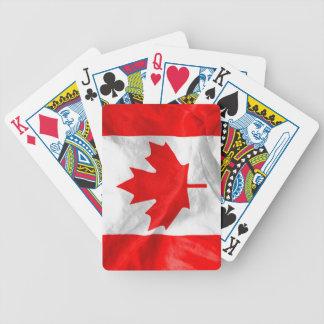Kanadensisk flagga spel kort