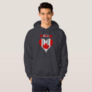 Kanadensisk hjärta sweatshirt med luva