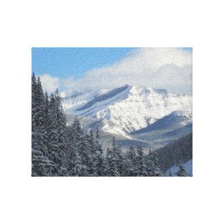 Kanadensisk konst för Rockies högvärdig slågen in  Canvastryck