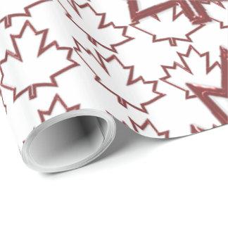 Kanadensisk lönnlöv som slår in papper presentpapper