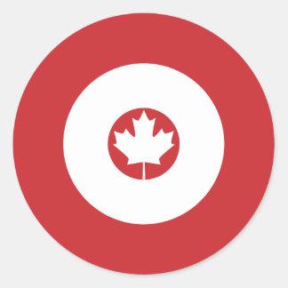 Kanadensisk modrundaklistermärke 1 runt klistermärke