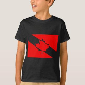 Kanadensisk Scubadykareflagga T Shirt