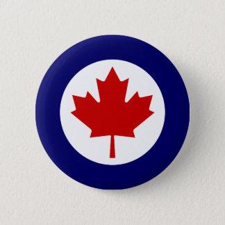 Kanadensiska Roundel Standard Knapp Rund 5.7 Cm