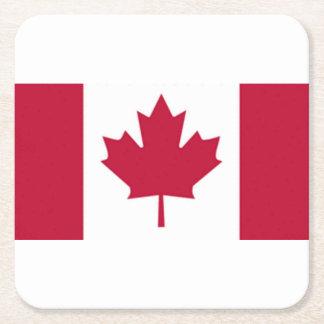 Kanadensiskt flaggaunderlägg underlägg papper kvadrat