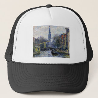 Kanal i Amsterdam vid Claude Monet Keps