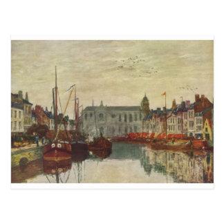 Kanalisera i Bryssel av Eugene Boudin Vykort