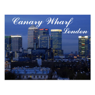 Kanariefågelhamnplats, London vykort