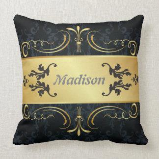 Känd dekorativ kudde för Monogramdamer
