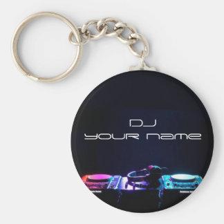 Känd dj-keychain för personlig rund nyckelring