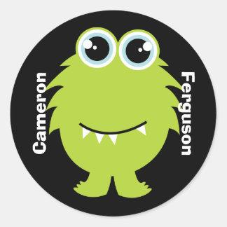 Känd etikett/klistermärke - grön gigantisk design runt klistermärke