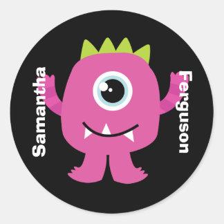 Känd etikett/klistermärke - rosa gigantisk design runt klistermärke