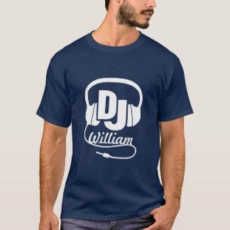 Känd headphonevit för DJ på den mörka grafiska T Shirts