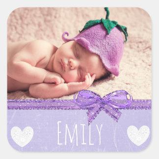 Känd klistermärke för personlig med din bebis foto
