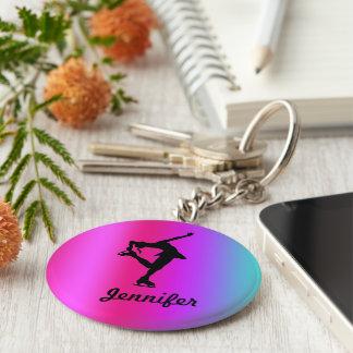 Känd nyckelring för konståkare (rosa, lila, blått)