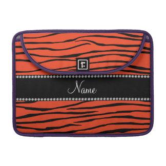 Känd orange zebra ränder för personlig sleeve för MacBooks