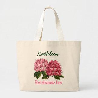 Känd Rhododendron för bäst Grammie någonsin anpass Jumbo Tygkasse
