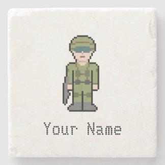 Känd soldat 8Bit för anpassningsbar Stenunderlägg