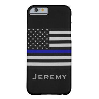 Känd tunn blålinjenflagga för personlig barely there iPhone 6 fodral