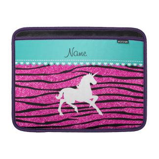Känd zebra ränder för glitter för vitunicornshock MacBook sleeve