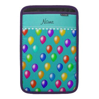 Kända ballonger för turkosregnbågefödelsedag MacBook air sleeve