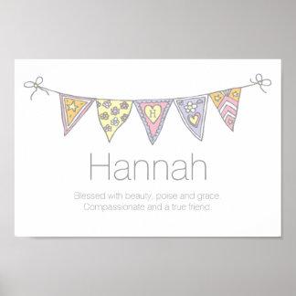 Kända Hannah flickor och menande buntingaffisch