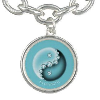 Kända kvinna för Yin Yang NÅGRA färgw henne Berlockarmband