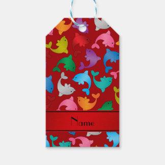 Kända röda regnbågedelfiner för personlig presentetikett