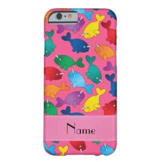 Kända rosa regnbågenarwhals för personlig barely there iPhone 6 fodral