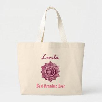 Kända rosor för bäst för mormor anpassningsbar jumbo tygkasse