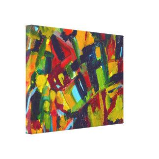 Kandinsky 304 färgrik abstrakt målning canvastryck