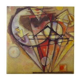 Kandinsky abstrakt cirklar kakelplatta