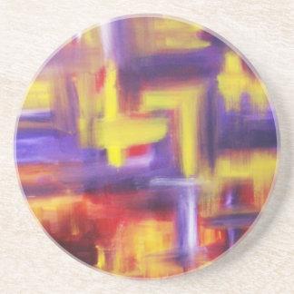 Kandinsky abstrakt konst underlägg sandsten