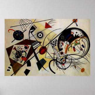 Kandinsky fodrar Transverse obrutet konstaffischen Poster