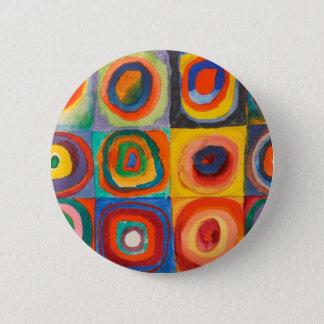 Kandinsky kvadrerar koncentriskt cirklar standard knapp rund 5.7 cm