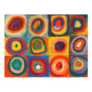 Kandinsky kvadrerar koncentriskt cirklar vykort