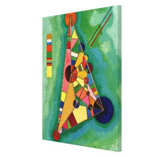 Kandinsky - mångfärgad triangel canvastryck