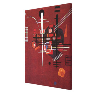 Kandinsky - tråkigt rött canvastryck
