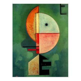 Kandinsky uppåtriktad abstrakt målning vykort