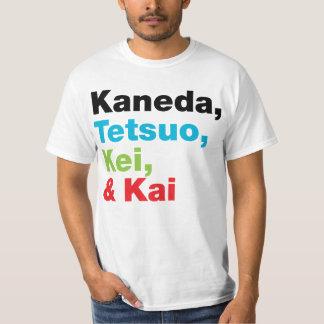Kaneda Tetsuo etc. namnger (tända), T-tröja Tee Shirts