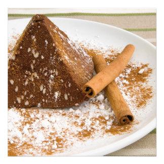 Kanelbrun chokladtårtaefterrätt