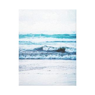 Kanfas för fotografi för version 2 för hav vinkar canvastryck