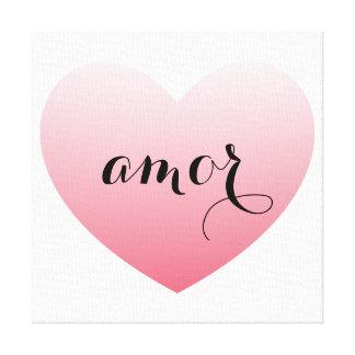 kanfas för kärlekhjärtakonst - skräddarsy canvastryck