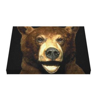 Kanfas för konst för Grizzlybruntbjörn slågen in 3 Canvastryck
