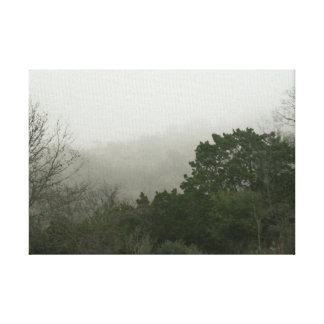 Kanfas för morgon för backeland dimmig canvastryck