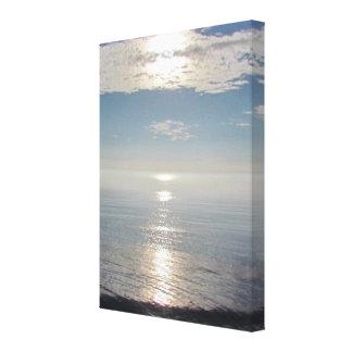 Kanfas - solnedgång över Stilla hav Canvastryck