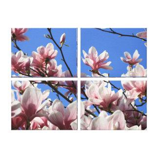 KanfasKonst-Rosor Magnolia Canvastryck