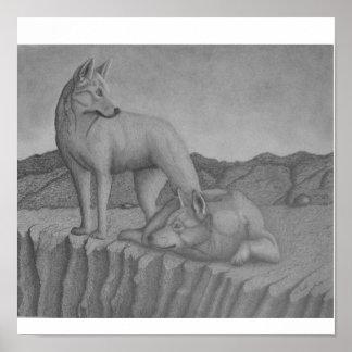 Kanfaskonsttryck. För Dingos warrigal) varg-något  Print