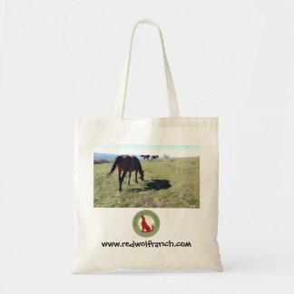 Kanfastoto med fotoet av ranchhästar tygkasse