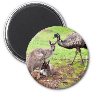 Kangaroo_And_Emu _, Magnet